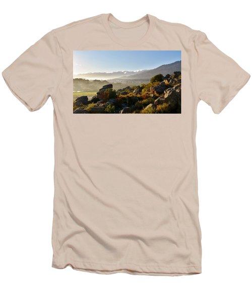 morning fog over Ceres Men's T-Shirt (Slim Fit) by Werner Lehmann