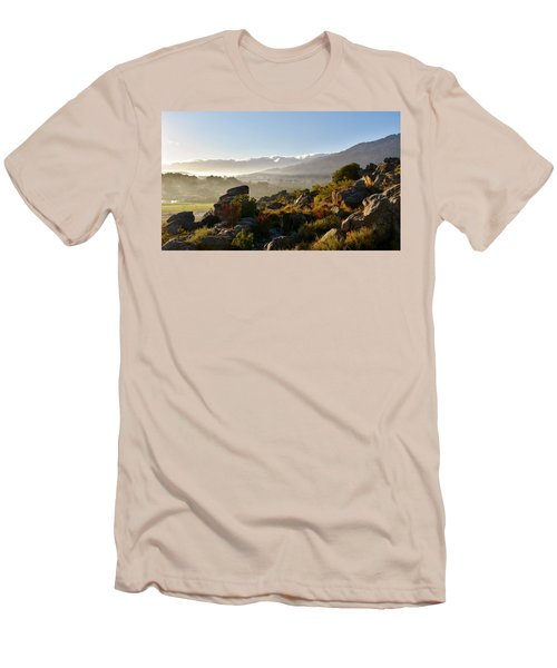 morning fog over Ceres Men's T-Shirt (Athletic Fit)