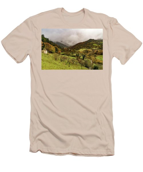 Mountains And Valleys All Around Men's T-Shirt (Athletic Fit)