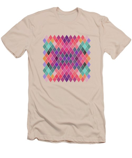 Watercolor Geometric Background Men's T-Shirt (Athletic Fit)