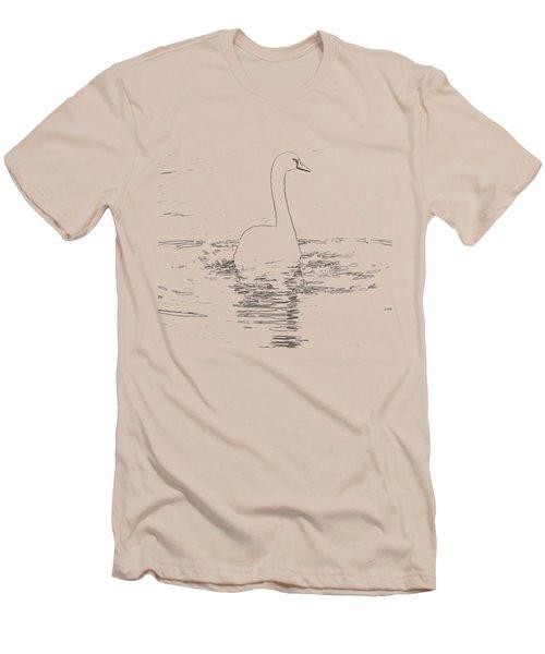 White Swan Swimming  Men's T-Shirt (Athletic Fit)