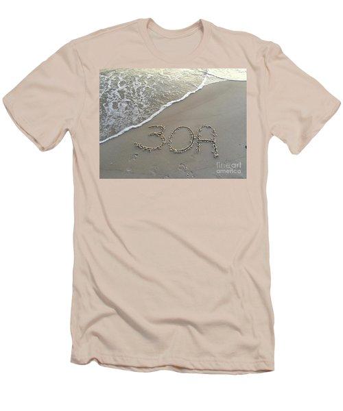 30a Beach Men's T-Shirt (Slim Fit) by Megan Cohen
