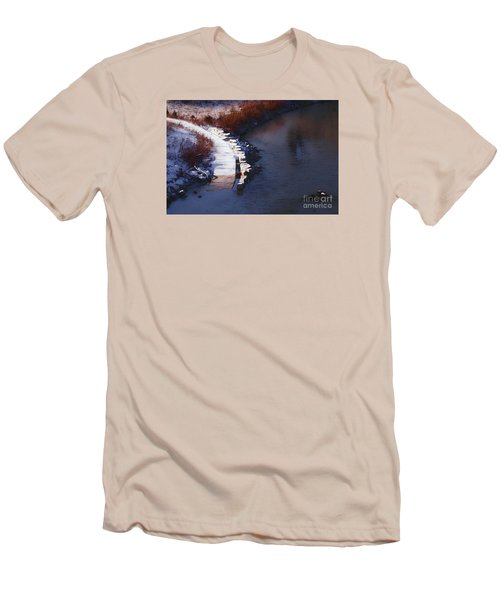 Men's T-Shirt (Slim Fit) featuring the digital art 33rd And Canal by David Blank