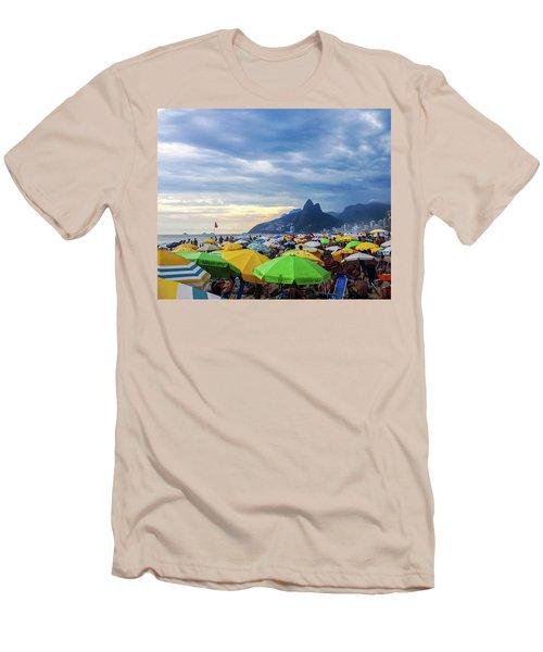 Rio De Janeiro Men's T-Shirt (Slim Fit) by Cesar Vieira