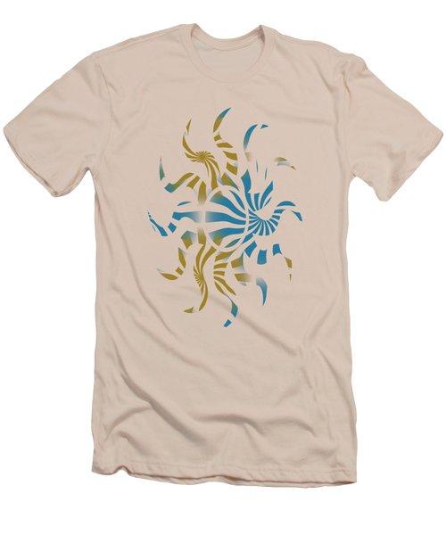 3d Spiral Pattern Men's T-Shirt (Athletic Fit)