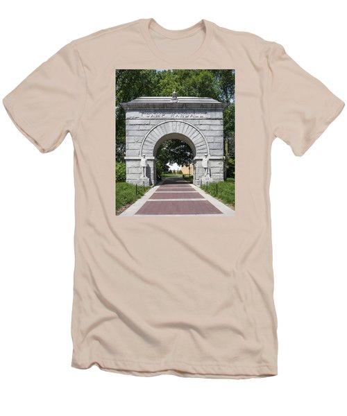 Camp Randall Memorial Arch - Madison Men's T-Shirt (Slim Fit) by Steven Ralser