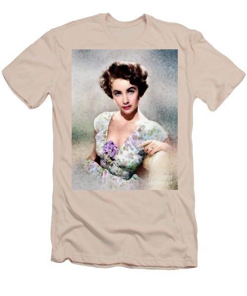 Elizabeth Taylor, Vintage Hollywood Legend Men's T-Shirt (Slim Fit) by John Springfield