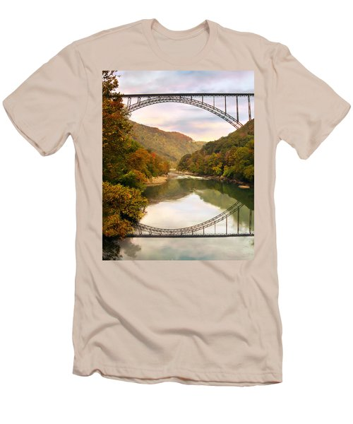 New River Gorge Bridge Men's T-Shirt (Athletic Fit)