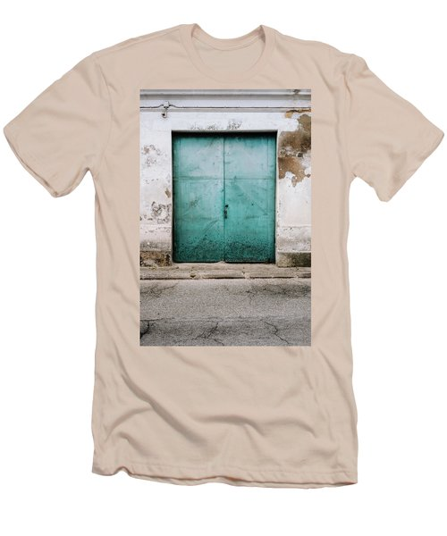 Men's T-Shirt (Slim Fit) featuring the photograph Door With No Number by Marco Oliveira