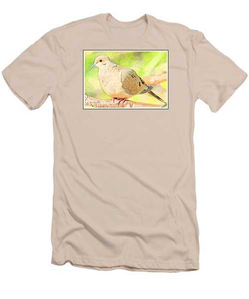 Mourning Dove Animal Portrait Men's T-Shirt (Slim Fit) by A Gurmankin