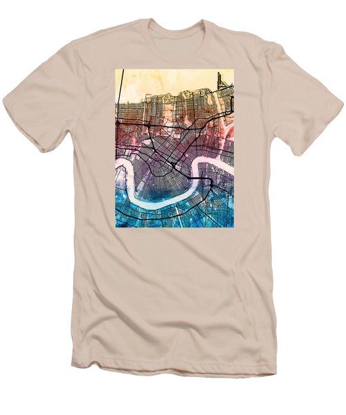 New Orleans Street Map Men's T-Shirt (Slim Fit)