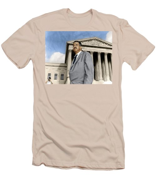 Men's T-Shirt (Athletic Fit) featuring the photograph Thurgood Marshall by Granger