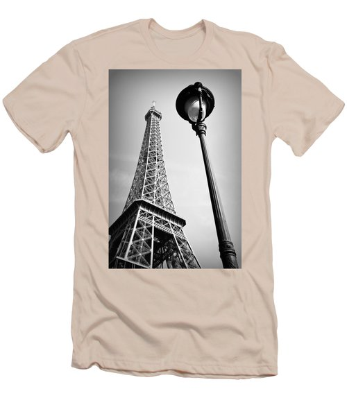 Men's T-Shirt (Slim Fit) featuring the photograph Eiffel Tower by Chevy Fleet