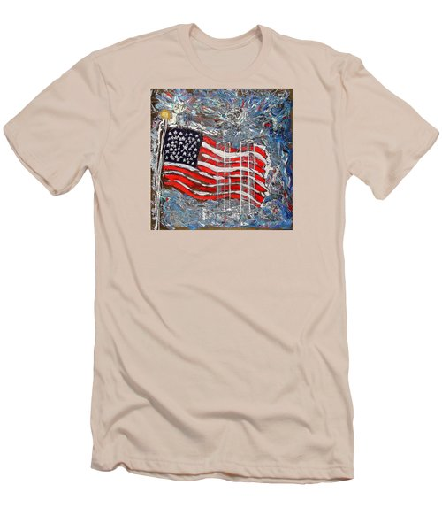 9/11 Tribute Men's T-Shirt (Athletic Fit)