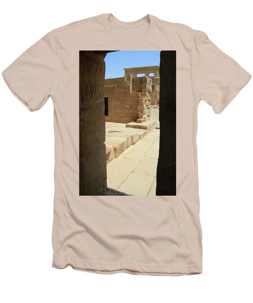 Men's T-Shirt (Athletic Fit) featuring the photograph temple of Isis by Silvia Bruno
