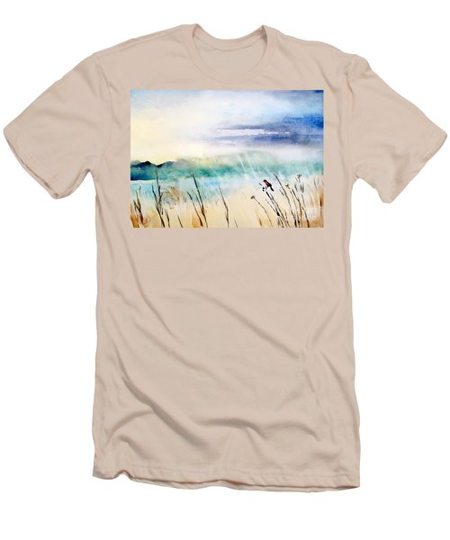 A Bird In Swamp Men's T-Shirt (Athletic Fit)