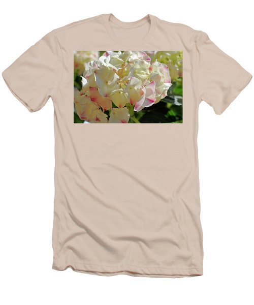 Men's T-Shirt (Slim Fit) featuring the photograph A Blush Of Pink by Cricket Hackmann