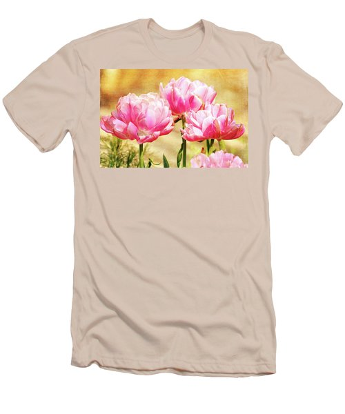 A Bouquet Of Tulips Men's T-Shirt (Slim Fit) by Trina Ansel