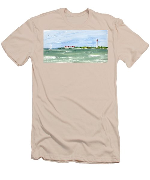 A Clear Day At Cape May Point  Men's T-Shirt (Athletic Fit)