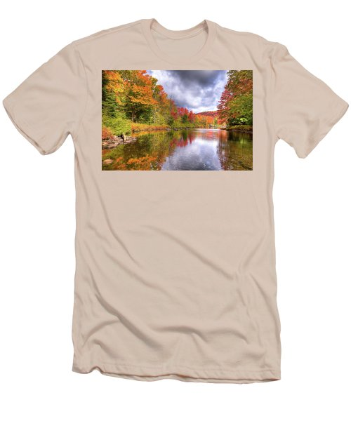 A Cloudy Autumn Day Men's T-Shirt (Slim Fit) by David Patterson
