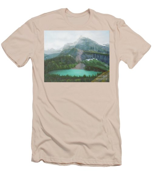 A Day In Glacier National Park Men's T-Shirt (Athletic Fit)