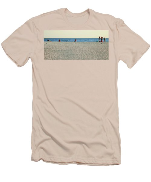 A Fine Day At The Beach Men's T-Shirt (Slim Fit) by Ginny Schmidt