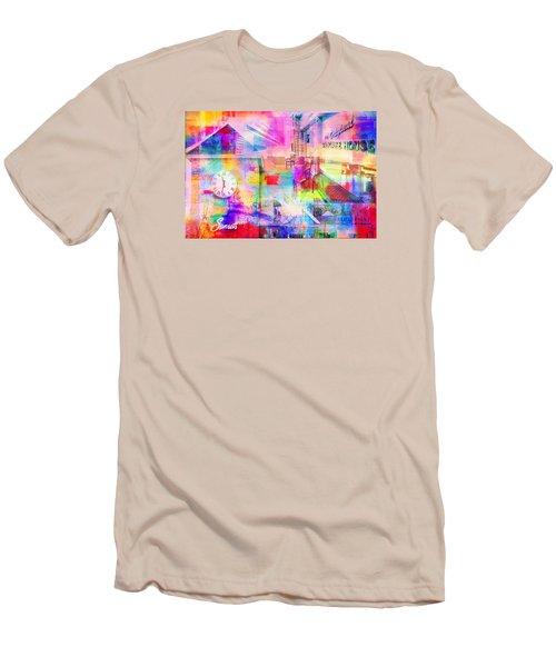 Wayzata Collage Men's T-Shirt (Slim Fit) by Susan Stone
