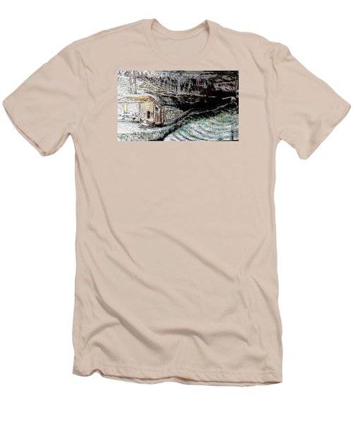 A Hut In The Valley  Men's T-Shirt (Athletic Fit)