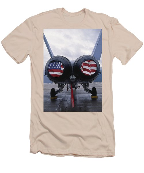 A Mcdonnell Douglas F/a-18 Hornet Twin-engine Supersonic Fighter Aircraft Men's T-Shirt (Athletic Fit)