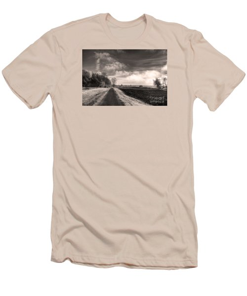 Men's T-Shirt (Slim Fit) featuring the photograph A Mist Over The Missouri Bottoms by William Fields