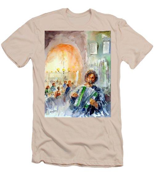 A Night At The Tavern Men's T-Shirt (Slim Fit) by Faruk Koksal