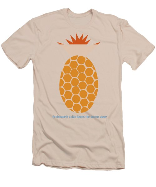 Men's T-Shirt (Slim Fit) featuring the painting A Pineapple A Day Keeps The Doctor Away by Frank Tschakert