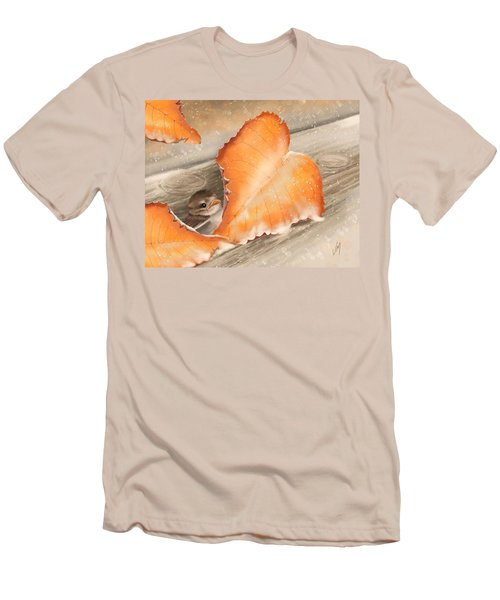 Men's T-Shirt (Slim Fit) featuring the painting A Safe Place by Veronica Minozzi
