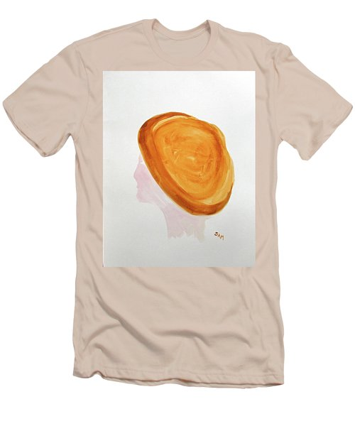 Men's T-Shirt (Slim Fit) featuring the painting A Simple Hat by Sandy McIntire