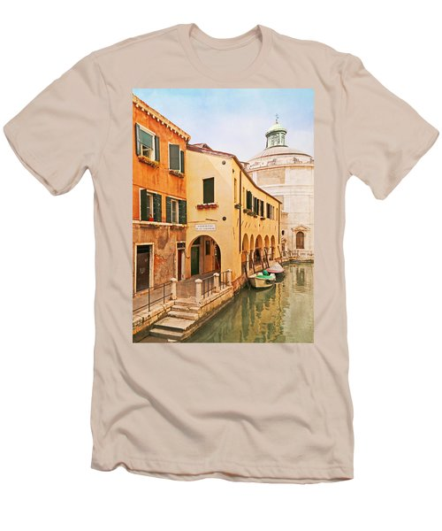 A Venetian View - Sotoportego De Le Colonete - Italy Men's T-Shirt (Slim Fit) by Brooke T Ryan