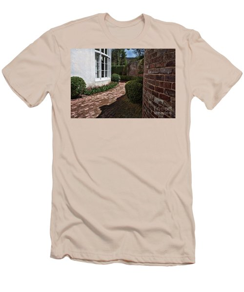 A Walk Through The Greenbrier Men's T-Shirt (Slim Fit) by Laurinda Bowling