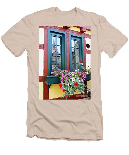 A Window In Eltville  2 Men's T-Shirt (Slim Fit) by Sarah Loft