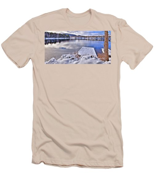 Men's T-Shirt (Slim Fit) featuring the photograph A Winter Day On West Lake by David Patterson