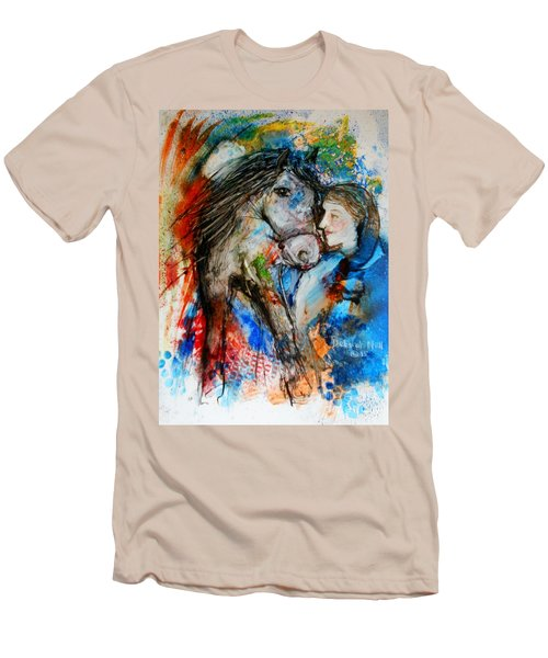 A Woman And Her Horse Men's T-Shirt (Athletic Fit)
