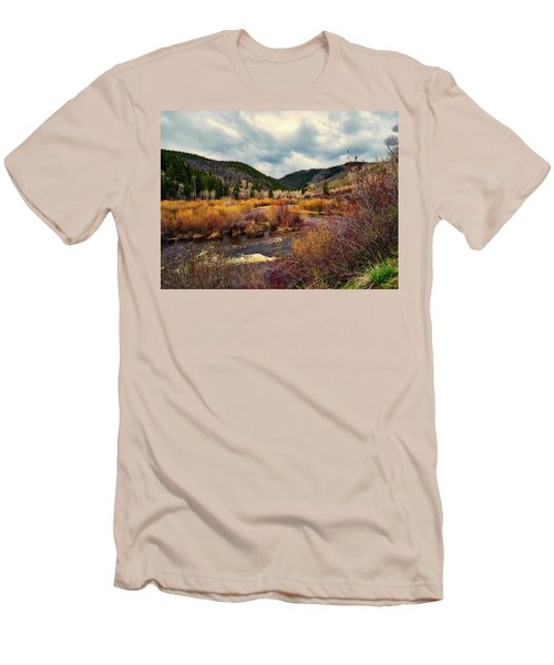 A Wyoming Autumn Day Men's T-Shirt (Slim Fit) by L O C