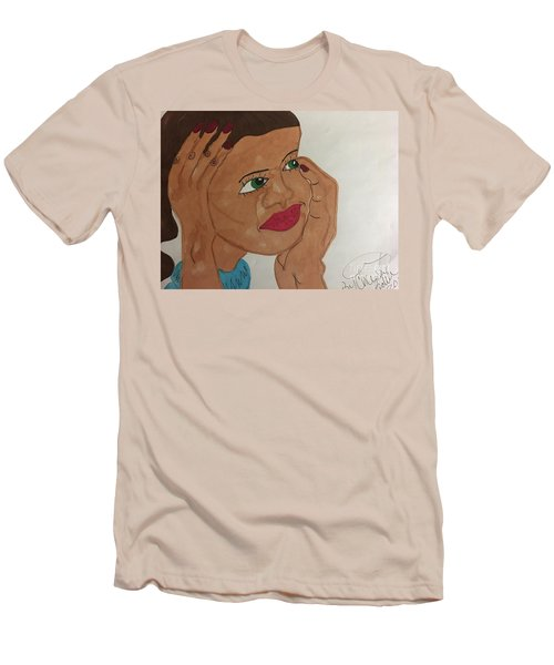 A Young Woman  Men's T-Shirt (Athletic Fit)
