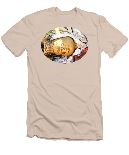Men's T-Shirt (Slim Fit) featuring the photograph Abandoned Bottle by Ethna Gillespie