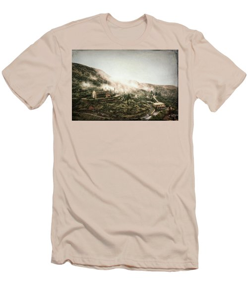 Abandoned Hotel In The Fog Men's T-Shirt (Slim Fit) by Robert FERD Frank