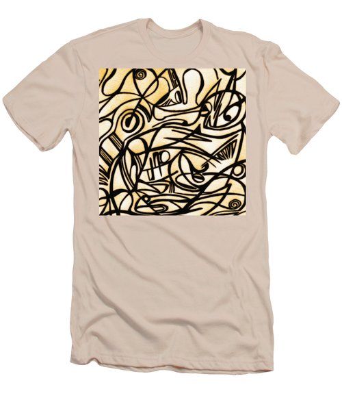 Abstract Art Gold 2 Men's T-Shirt (Slim Fit) by Sumit Mehndiratta