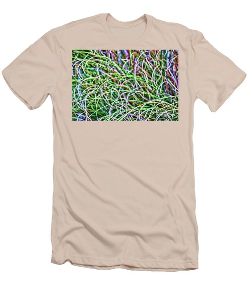 Abstract Grass Men's T-Shirt (Slim Fit) by Roberta Byram
