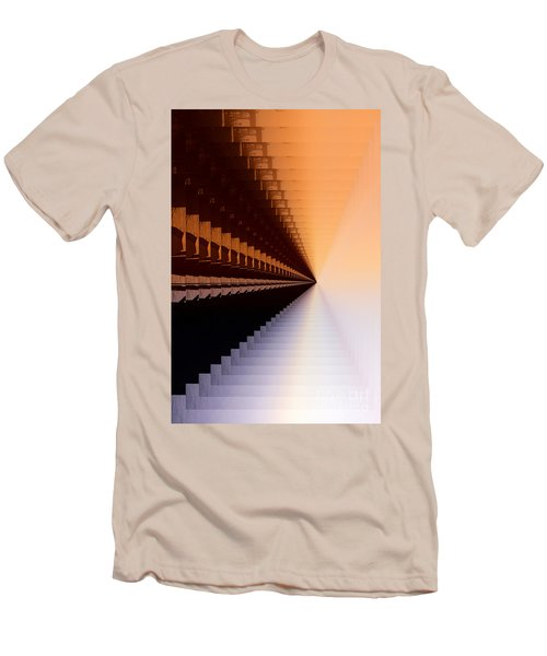 Abstract Industrial Sunrise Men's T-Shirt (Slim Fit) by Scott Cameron