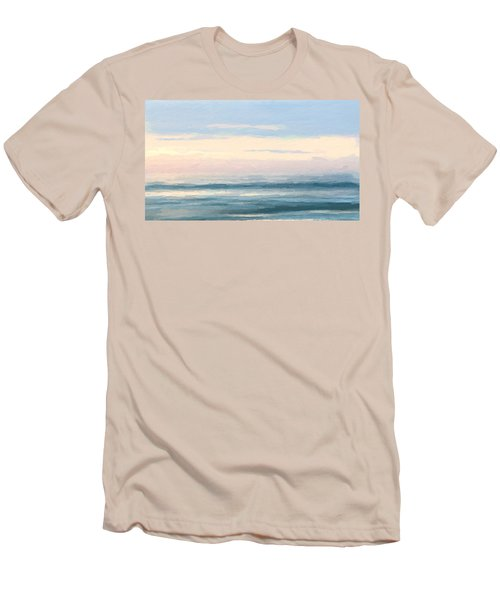 Abstract Morning Sea Men's T-Shirt (Athletic Fit)