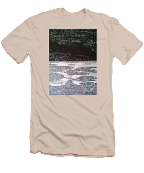 Men's T-Shirt (Slim Fit) featuring the painting Abstract Nail Polish Jg7 by Jasna Gopic
