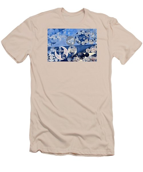 Abstract Painting - Blue Whale Men's T-Shirt (Slim Fit) by Vitaliy Gladkiy