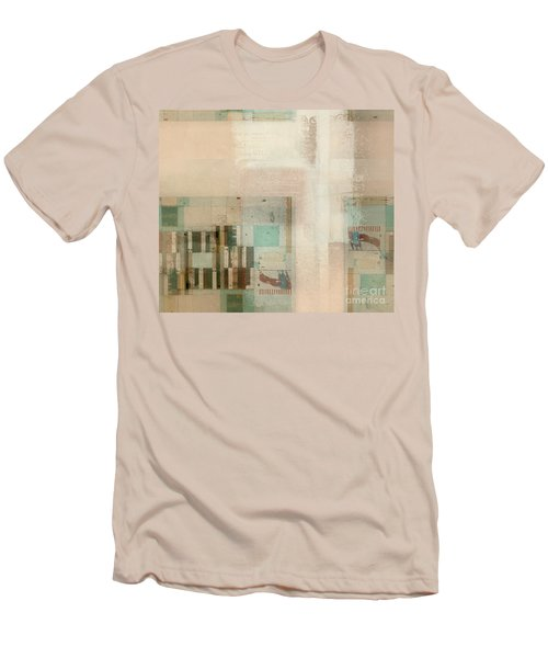 Men's T-Shirt (Slim Fit) featuring the digital art Abstractitude - C01b by Variance Collections